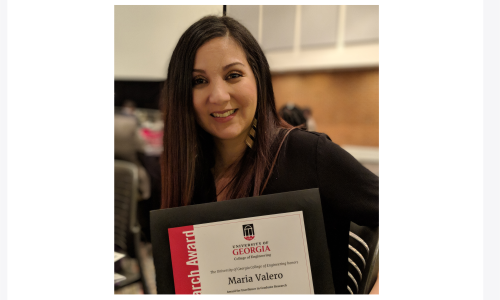 Congratulations to Maria for the Award for Excellence in Graduate Research